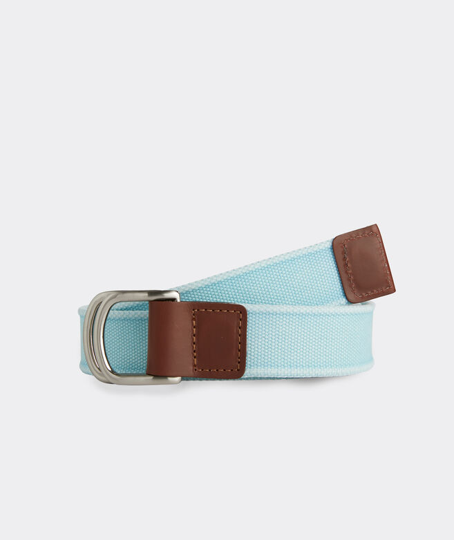 Island Canvas D-Ring Belt