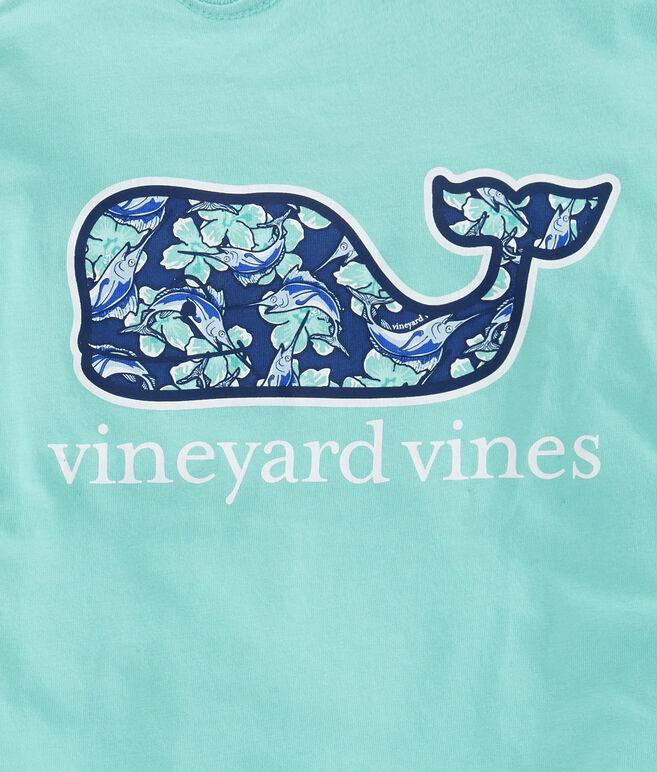 Boys Marlin Flowers Whale Fill Pocket T-Shirt