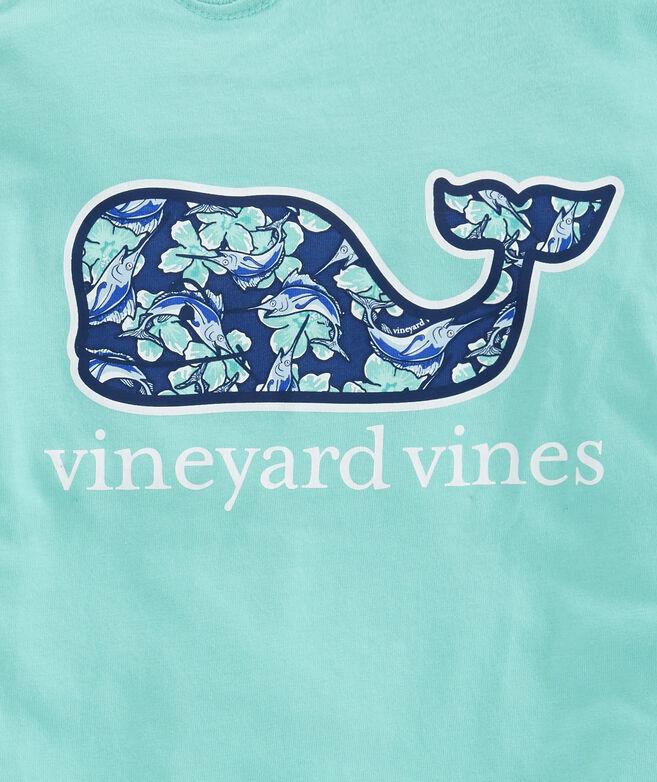 9812001e5 Boys Marlin Flowers Whale Fill Pocket T-Shirt
