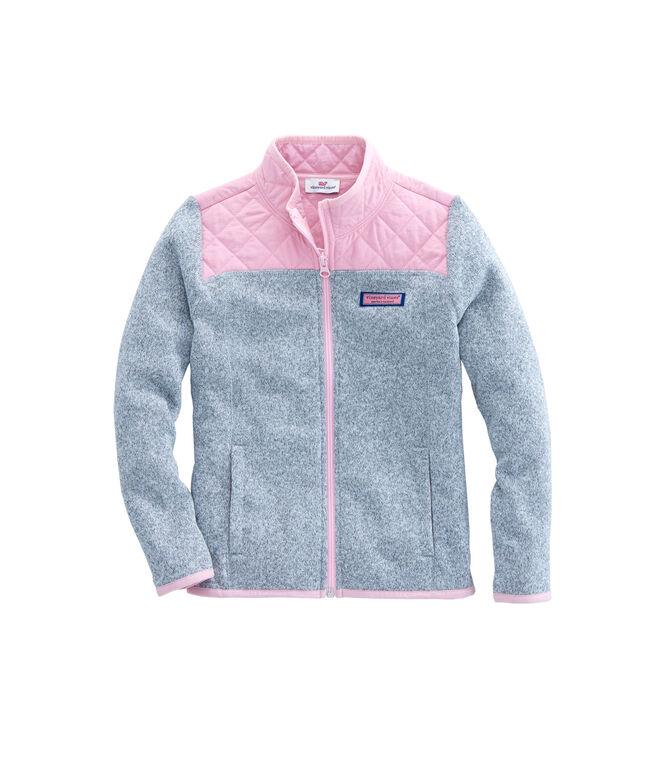 Girls Sweater Fleece Full Zip Shep Shirt