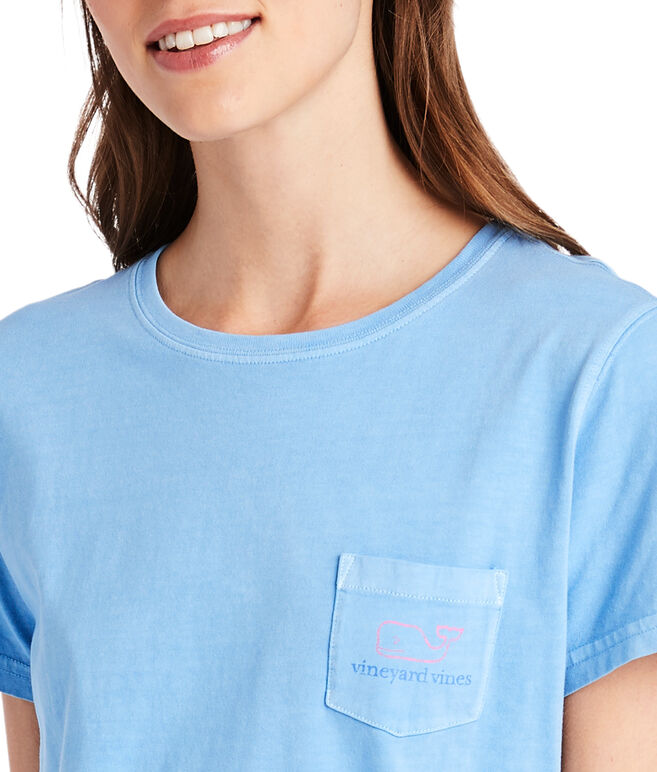 Garment-Dyed Vintage Whale Pocket Tee