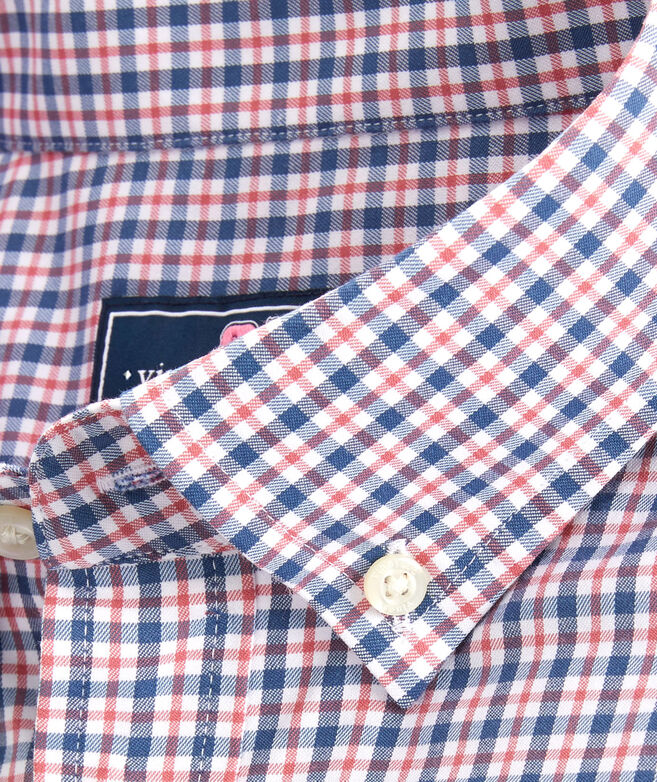 OUTLET Slim Fit Auger Check Performance Whale Shirt
