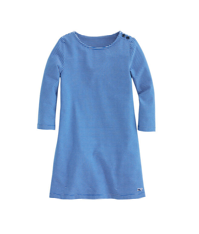 Girls Fine Line Stripe Tisbury Dress