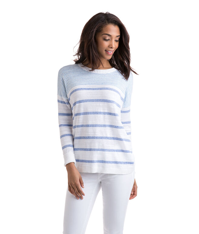 Relaxed Cotton Striped Sweater