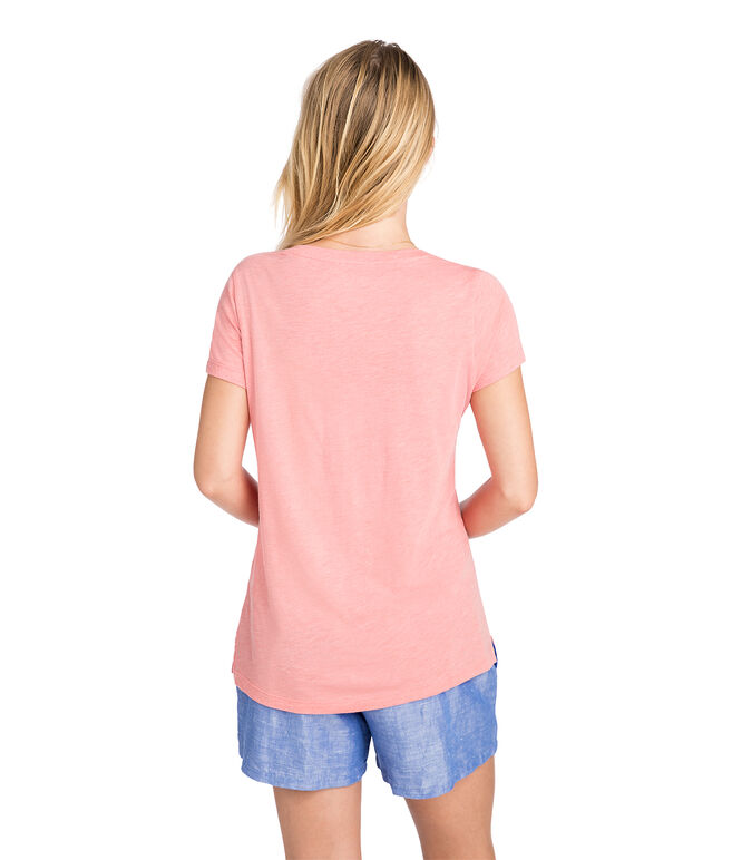Heathered Cozy V-Neck Tee