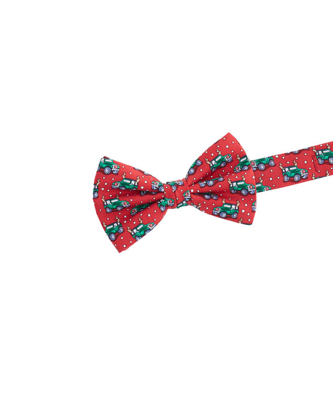 Boys Truck With Antlers Bow Tie