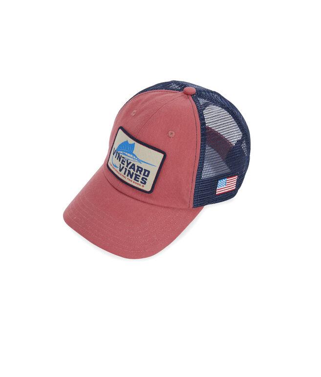 Sailfish Hook Patch Trucker Hat