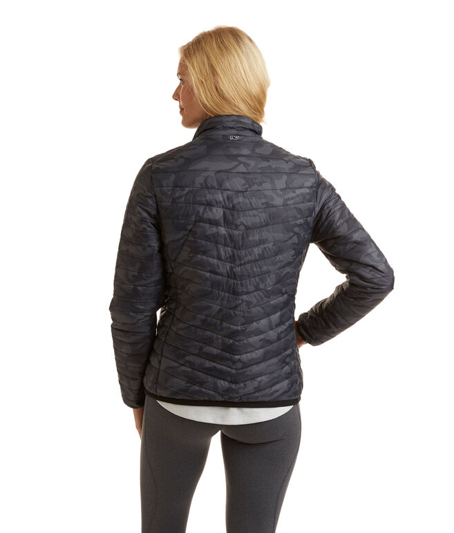 Camo Print Puffer Jacket