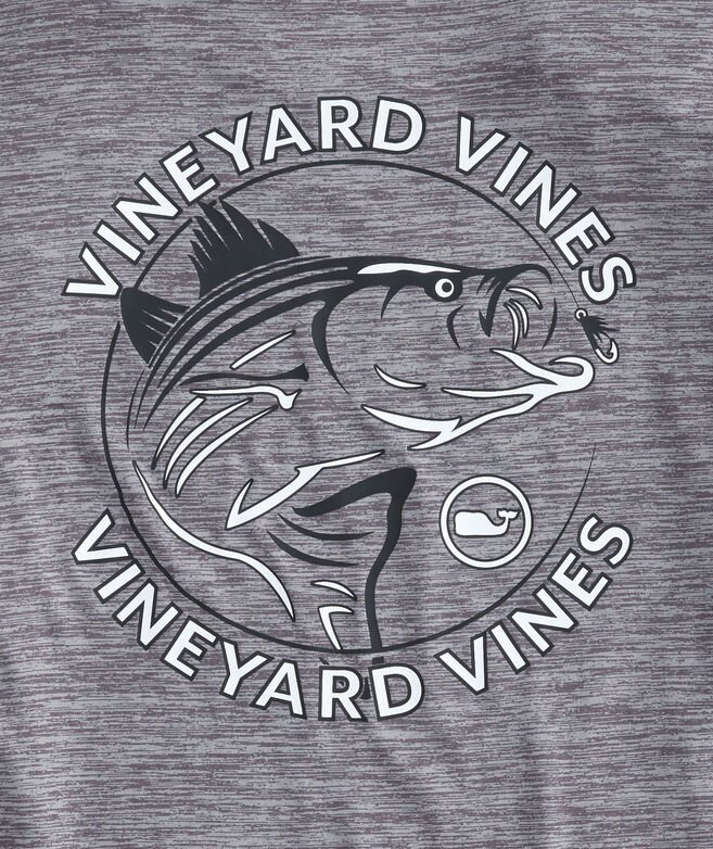 Long-Sleeve Performance Striped Bass T-Shirt