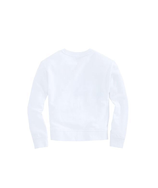 Girls Lightweight Cotton Terry High/Low Sweatshirt