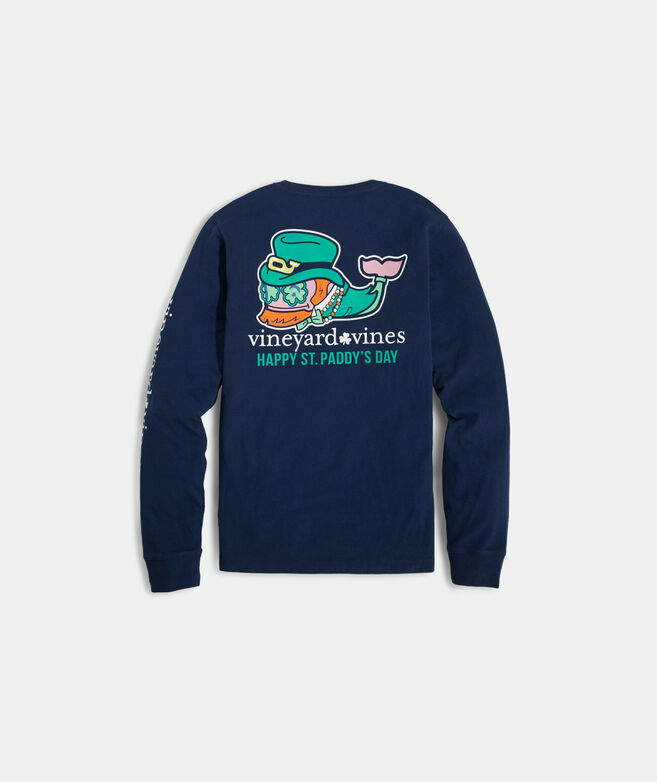 Boys' St. Paddy's Day Whale Long-Sleeve Pocket Tee