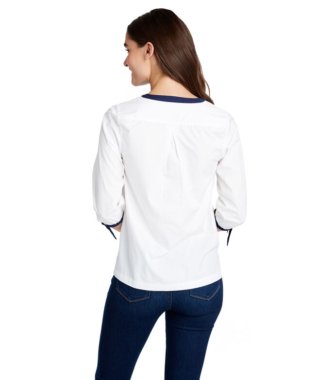 Color Block Savannah Popover Top