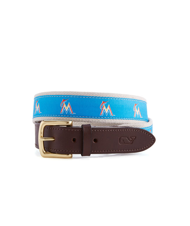 Miami Marlins Canvas Club Belt