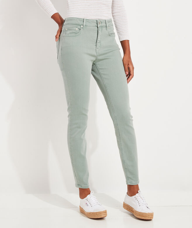 Jamie High-Rise Garment-Dyed Jeans