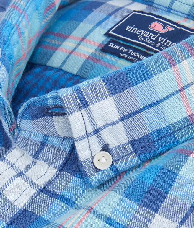 East Marsh Plaid Slim Tucker Shirt