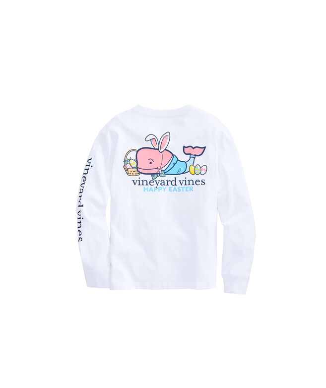 Boys Long-Sleeve Easter Whale T-Shirt