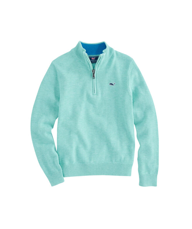Boys Cotton 1/4-Zip Sweater