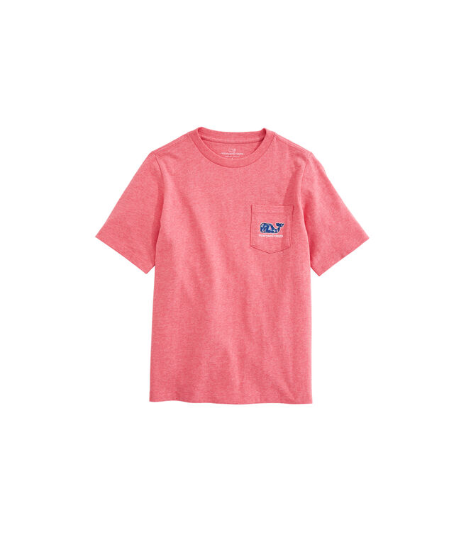 OUTLET Boys' Sailing Crew Whale Fill Short-Sleeve Pocket Tee