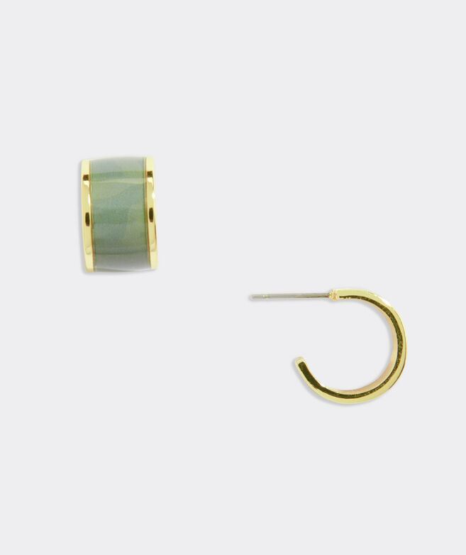 Printed Hoop Earrings