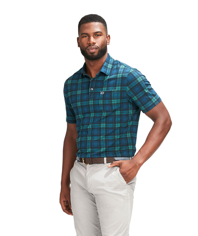 Blackwatch Printed Edgartown Polo