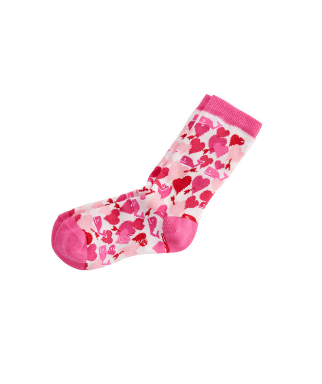 Girls Valentines Whales Socks
