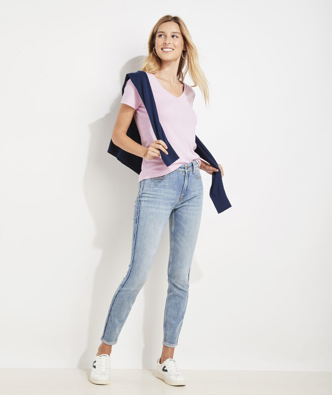 Limited-Edition Jamie High-Rise Corded-Stripe Jeans