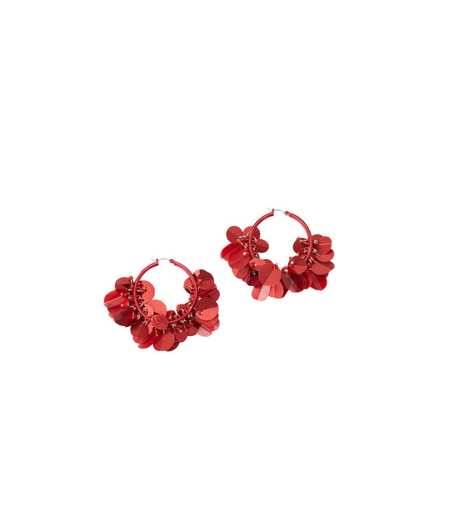 Hoop Paillette Earrings