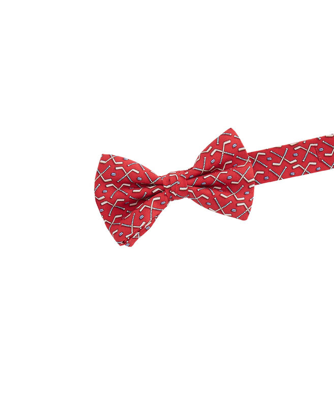 Boys Crossed Hockey Sticks Bow Tie