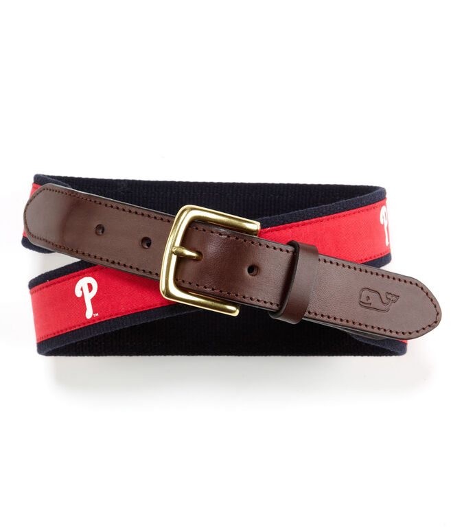 Philadelphia Phillies Canvas Club Belt