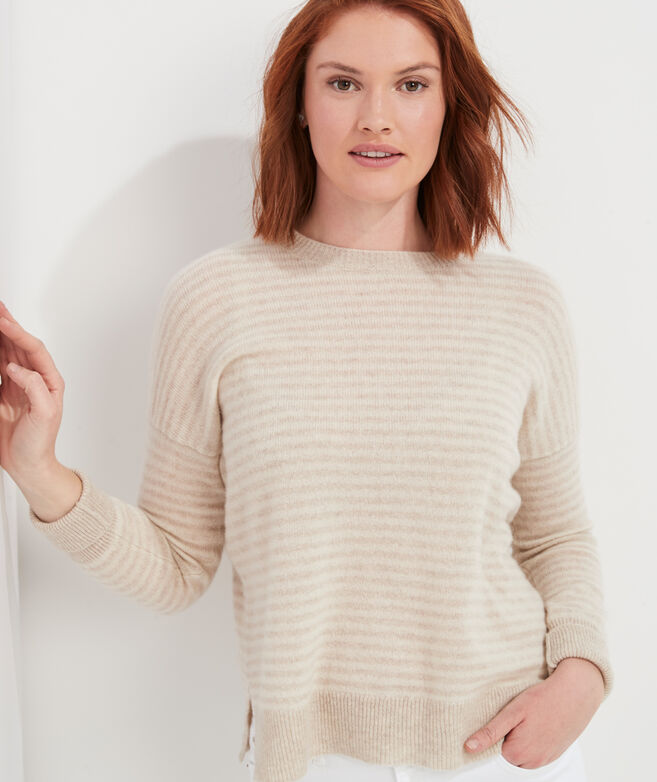 Ginny Stripe Lofty Cashmere Crewneck Sweater