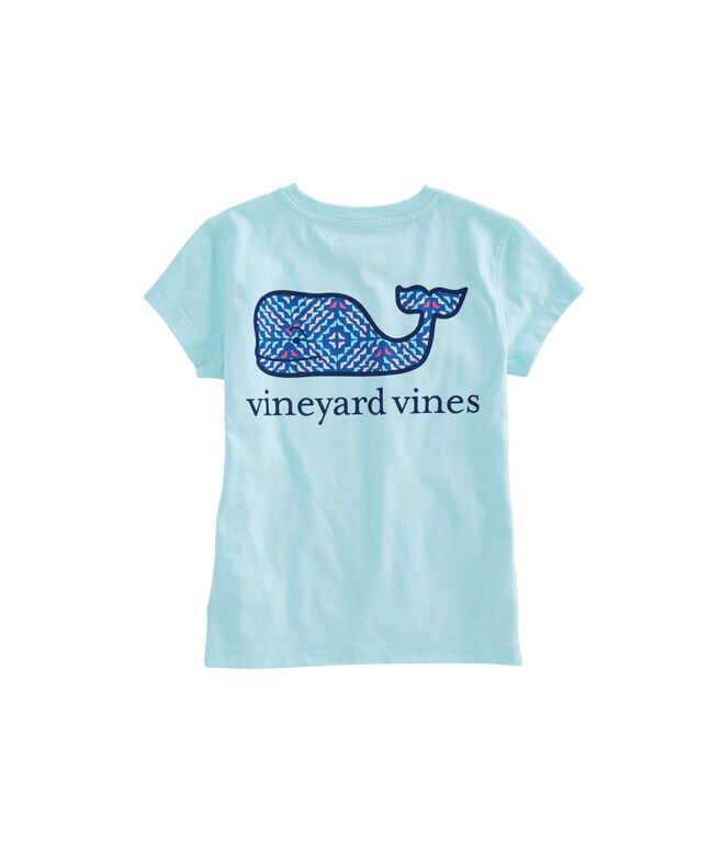 Girls Whale Square Pocket Tee