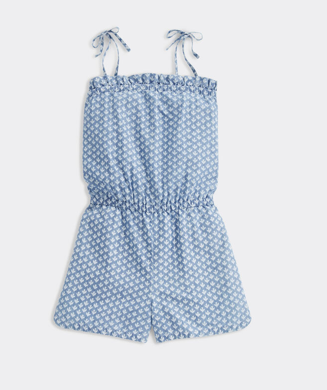 Girls' Gustavia Block Print Romper