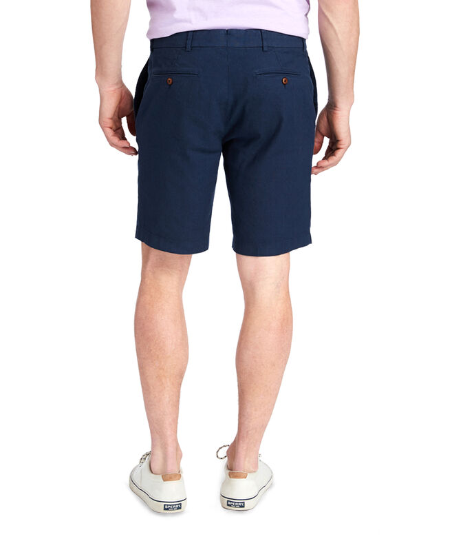 9 Inch Cotton Linen Greenwich Shorts