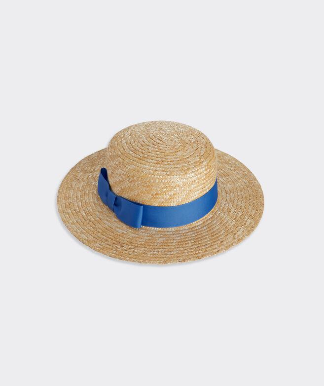 Wide Brim Straw Boater Hat