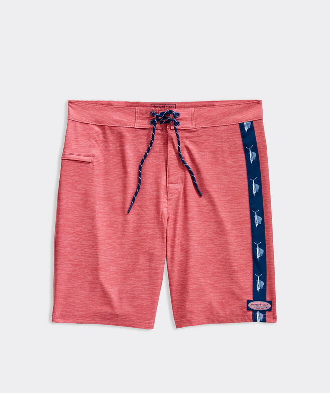 9 Inch Heathered Fineline Board Shorts