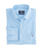 Seawater Gingham Performance Classic Tucker Shirt