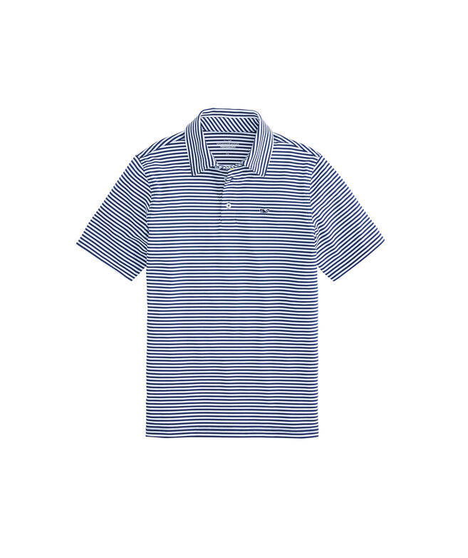 Boys Winstead Stripe Sankaty Performance Polo