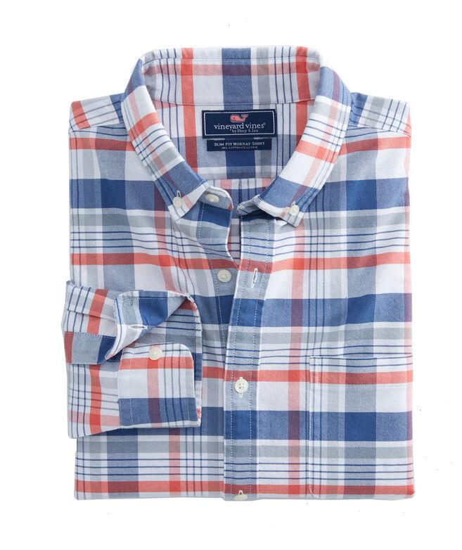 Slim Abacos Plaid Murray Shirt