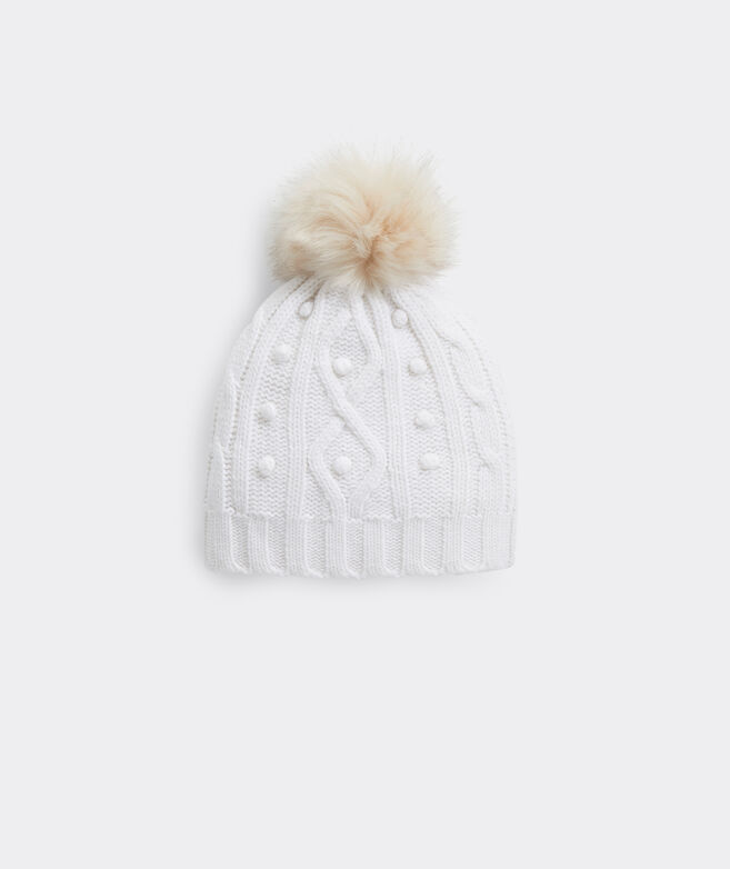 Island Cable-Knit Pom Hat
