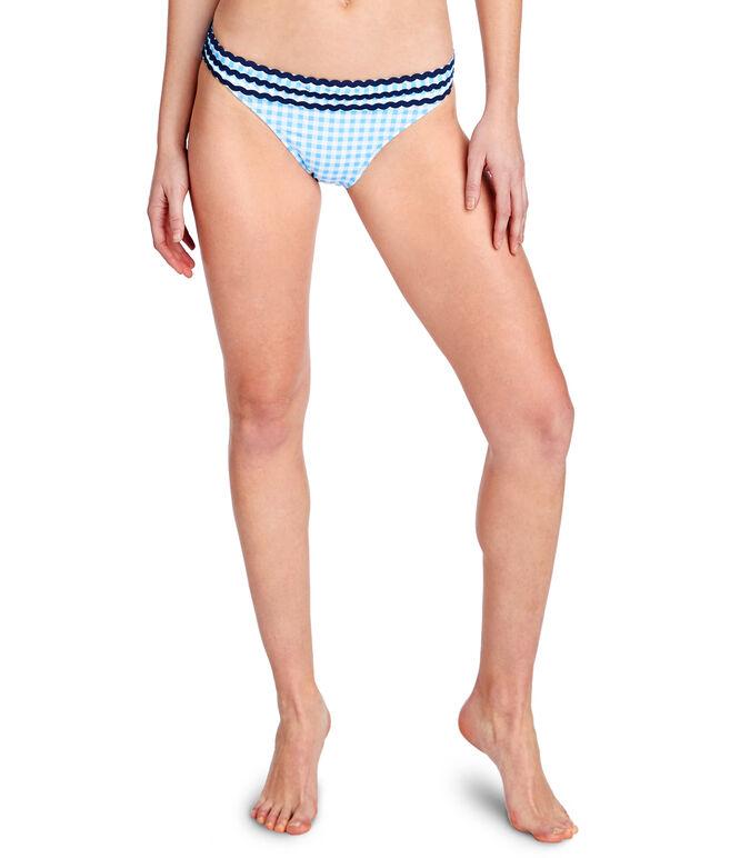 Gingham Ric Rac Bikini Top