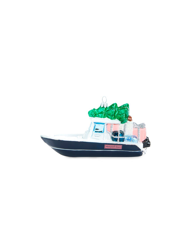 vv Boat & Tree Ornament