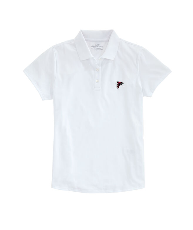 Atlanta Falcons Womens Performance Pique Polo