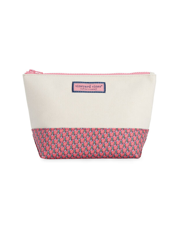 Holiday Anchors Cosmetic Case