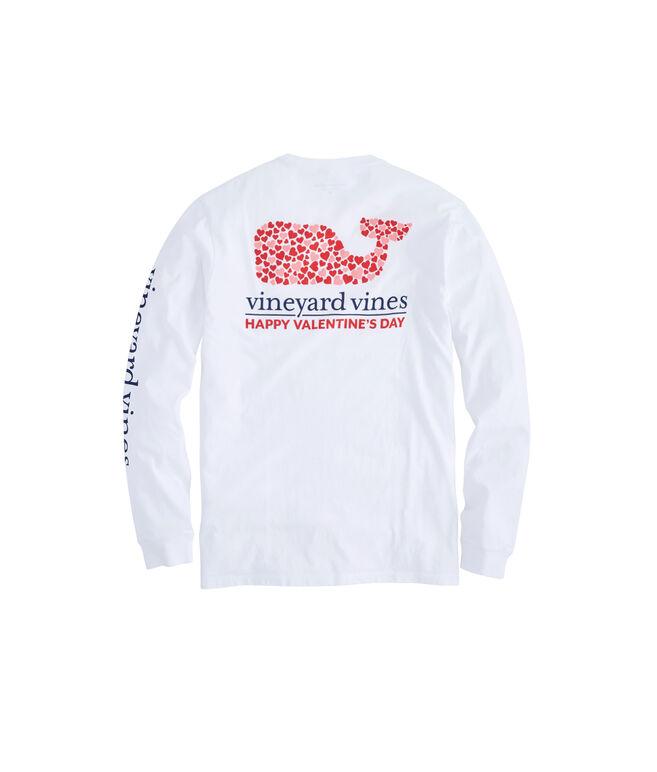 Long-Sleeve Valentine's Day Pocket T-Shirt