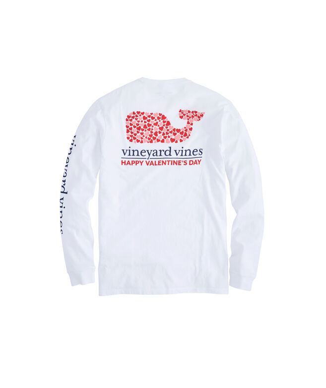 Long-Sleeve Valentine's Day Pocket T-Shirt