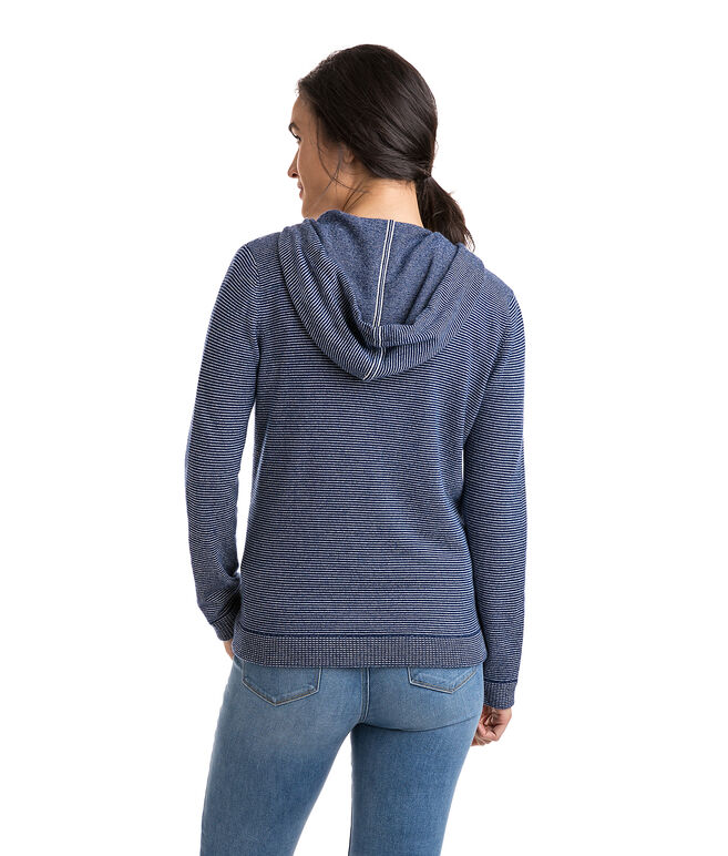 Cashmere Blend Striped Spinnaker Hoodie
