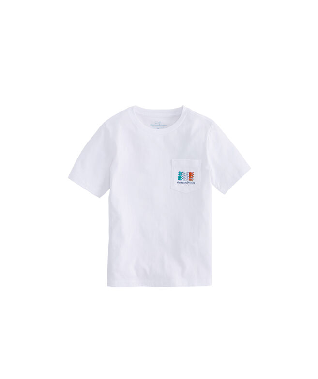 Boys Irish Flag Whale Pocket T-Shirt