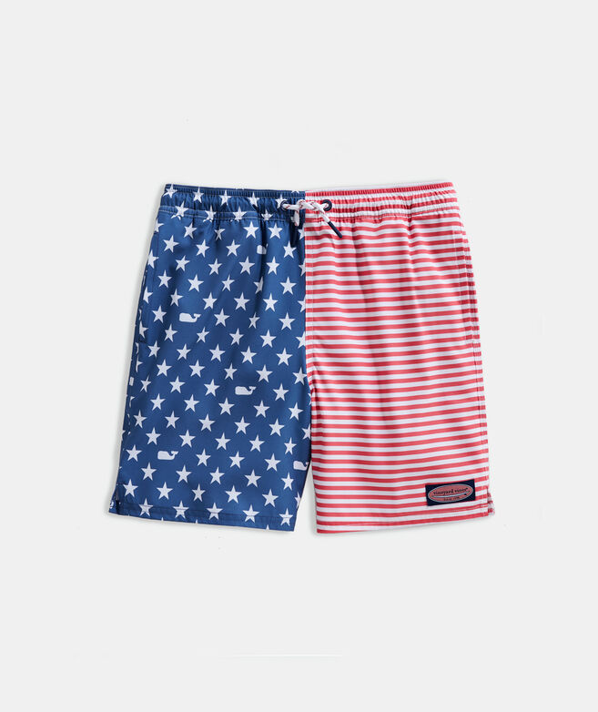 Boys' Americana Printed Chappy Trunks