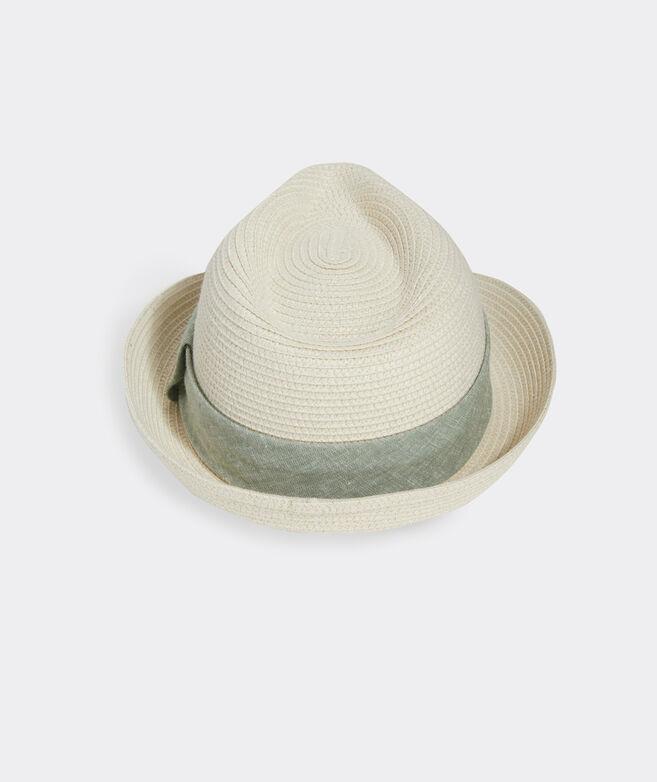 Linen Band Straw Hat