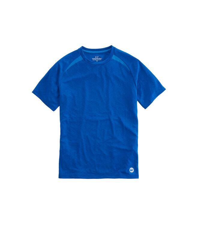 Pieced Mesh T-Shirt